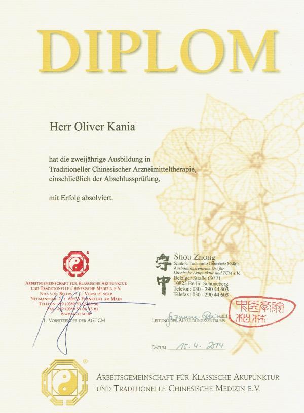 Heilpraktiker Bremen Oliver Kania ist Experte für Chinesische und Japanische Medizin und bringt das auch in seine Behandlung mit ein!